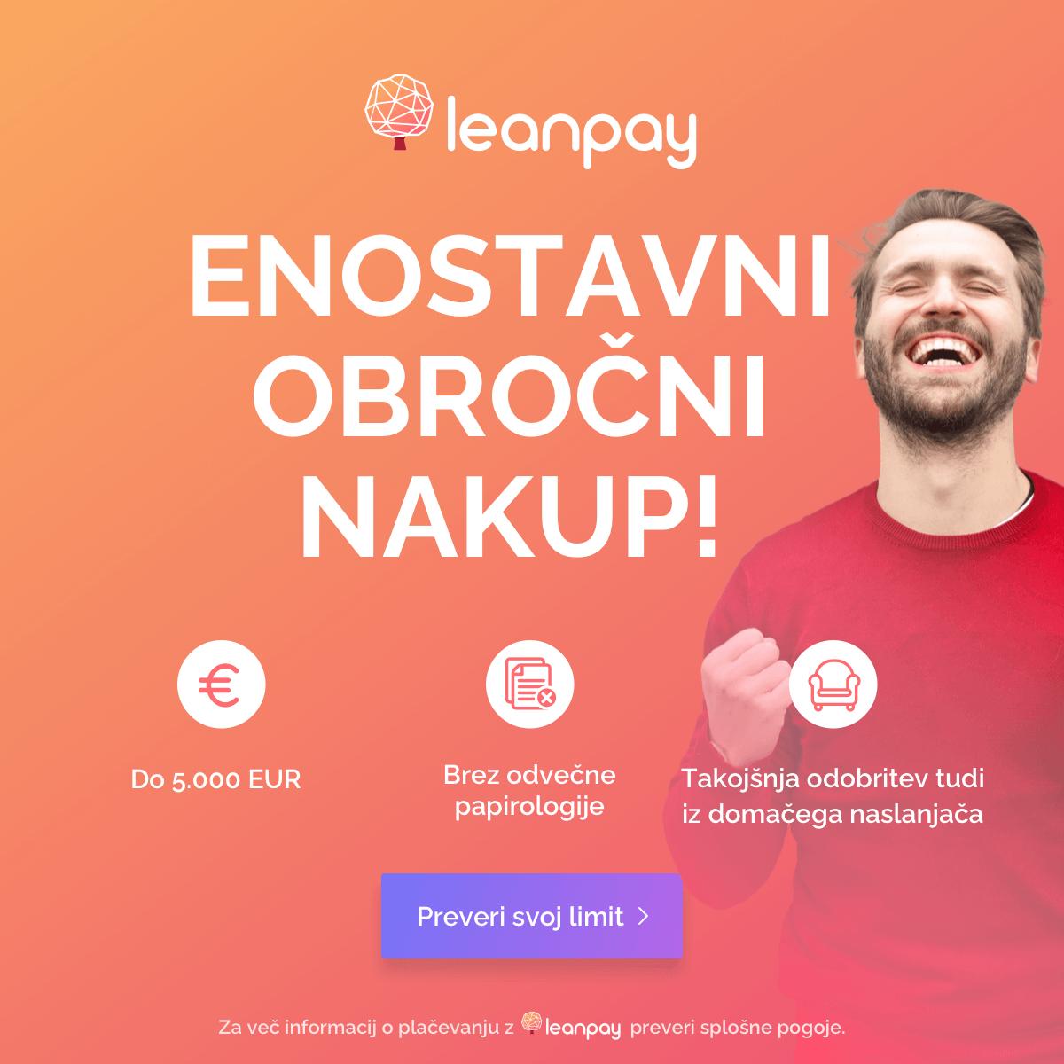 LeanPay - Hitro in enostavno do obročnega plačila